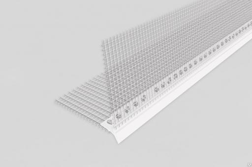 Уголок перфорированный с сеточкой пластиковый 2,5метра