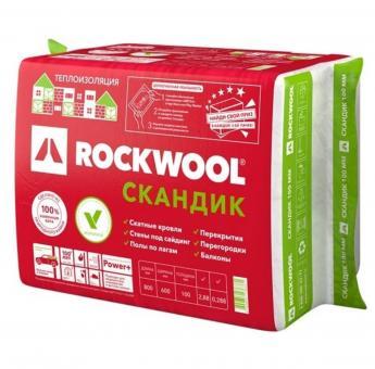 Теплоизоляция ROCKWOOL Эконом кл.100/600/1000. (уп.2,4м2), РФ, 27 плотность