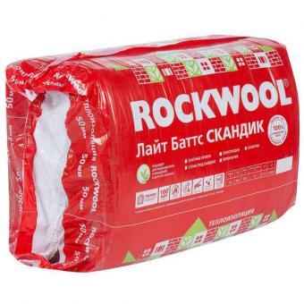 Теплоизоляция ROCKWOOL фасад 50/600/1000. (уп.2.4м2), РФ, 110 плотность