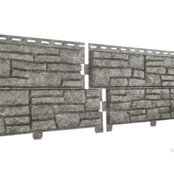 Сайдинг STONE - HOUSE сланец, серый  м2