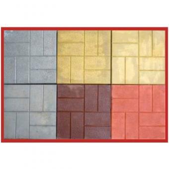 Плитка тротуарная «8 кирпичей» 40*40*5 серая 1м2