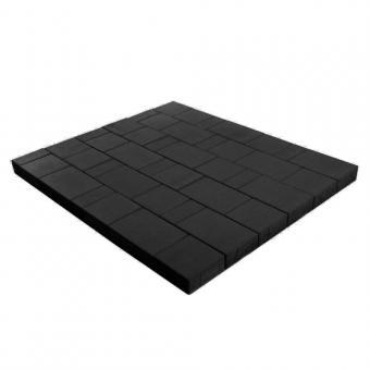 Плитка тротуарная Ландхаус из 3х элементов (240*160*60,160*160*60,80*160*60 цена за 1м2 Цвет:черный