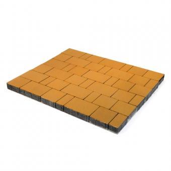 Плитка тротуарная Ландхаус из 3х элементов (240*160*60,160*160*60,80*160*60 цена за 1м2 Цвет:желтый