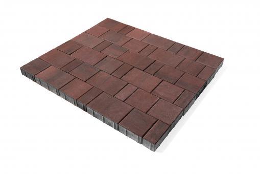 Плитка тротуарная Ландхаус из 3х элементов (240*160*60,160*160*60,80*160*60 цена за 1м2 Цвет:красный