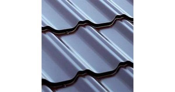 Металлочерепица листовая полиэстер глянец Zn 100-140 г/м2,покрытие 25 мк (0,45 мм)  за м2