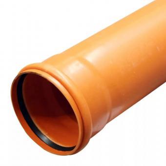 Труба для канализации d 110 1,5м рыжая