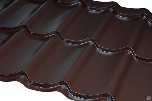 Металлочерепица листовая полиэстер мат  Zn 100-140 г/м2,покрытие 25-30 мк (0,45 мм) за м2