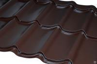 Металлочерепица листовая  полиэстер мат Zn 100-140 г/м2,покрытие 25-30 мк (0,5 мм) за м2