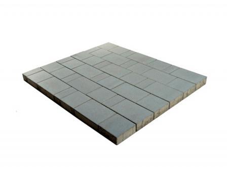 Плитка тротуарная Ландхаус из 3х элементов (240*160*60,160*160*60,80*160*60 цена за 1м2 Цвет:серый
