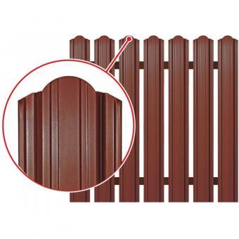 Штакетник глянцевый односторонний рубин (103 мм ).Цена за м.п