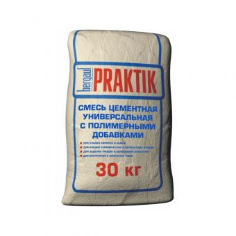 """Смесь цементная для кирпича """"Praktik"""" с полимерными добавками 30кг"""