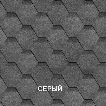 Гибкая черепица Shinglas Оптима серый 1000×317×24 см цена за уп.3м2