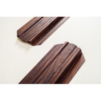 """Штакетник металлический """"под дерево"""" ( Темный Дуб ) двусторонний структурированный рубин (103 мм ). Цена за м.п."""