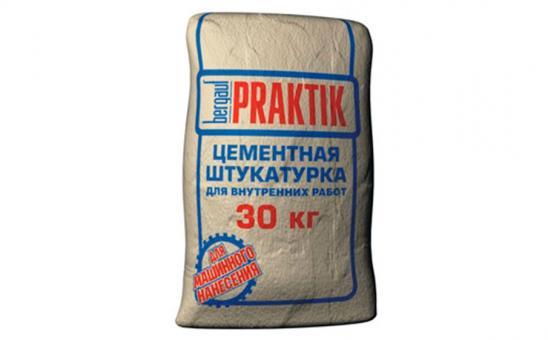 "Штукатурка цементная  bergauf  ""Praktik""  30 кг"