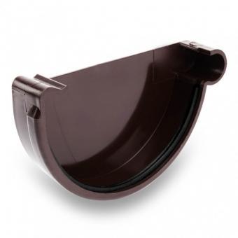 Заглушка желоба универсальная, 125 мм,черный;белый;коричневый;графит;красный Bryza